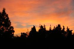 Sonneuntergang aus meinem Fenster