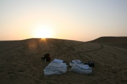 Our bed in the dessert