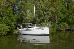Ankern vor Lieps auf dem Schweriner See